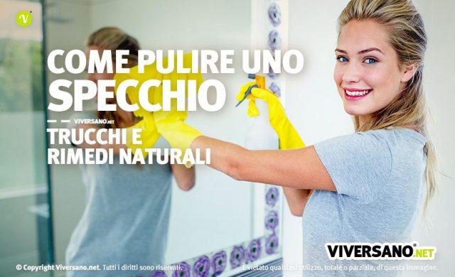 Come pulire uno specchio con rimedi naturali