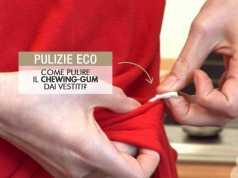 come pulire il Chewing-Gum DAi vestiti?