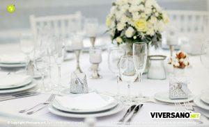 Matrimonio al chiuso: come apparecchiare la tavola