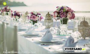 Matrimonio all'aperto: come apparecchiare la tavola