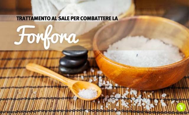 Trattamento spa antiforfora con il sale