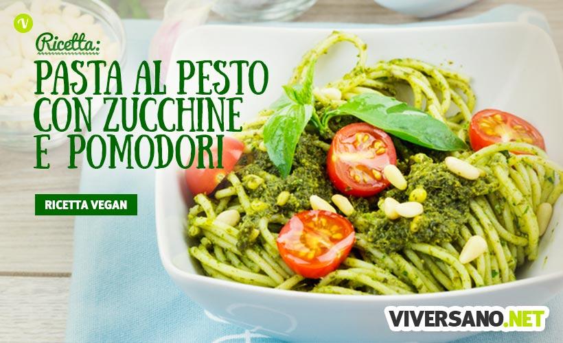 Pasta con Pesto di Zucchine e Pomodorini