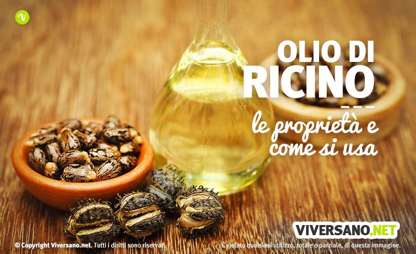 Semi e olio di ricino sopra un tavolo
