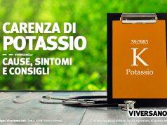 Immagine di copertina dell'articolo Carenza di Potassio cause e sintomi