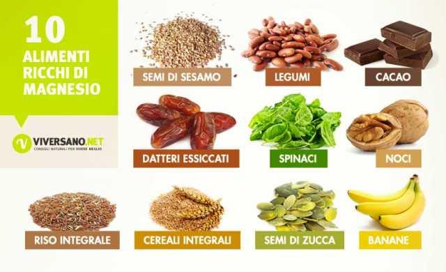 Alimenti Ricchi Di Magnesio Quali Sono Ecco 10 Alimenti