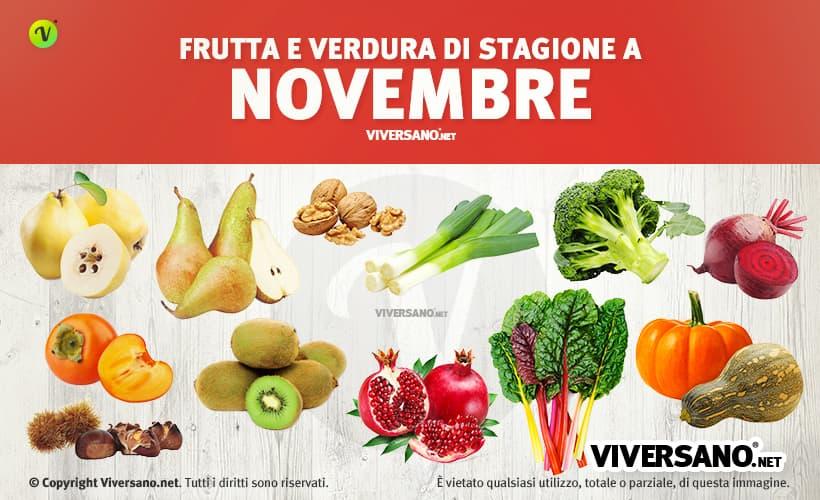 Copertina dell'articolo - Alimenti di stagione a novembre