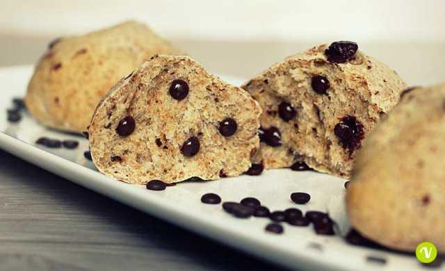 Pangoccioli vegan di farina integrale