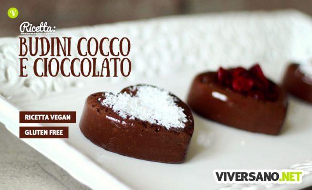 Budini Vegan di San Valentino al cacao e cocco
