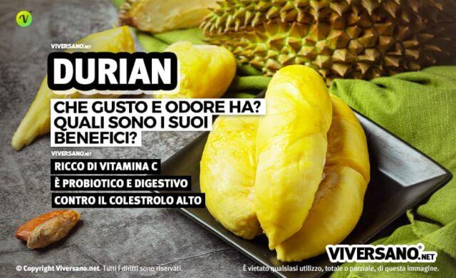 Durian: proprietà e benefici