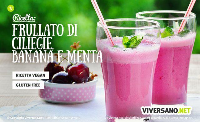 Ricetta: Frullato estivo con ciliegia, banana e menta