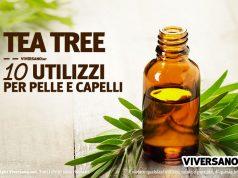 Boccetta contenente olio essenziale di tea tree
