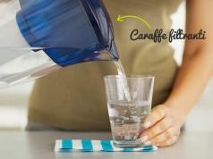 Caraffe filtranti per l'acqua