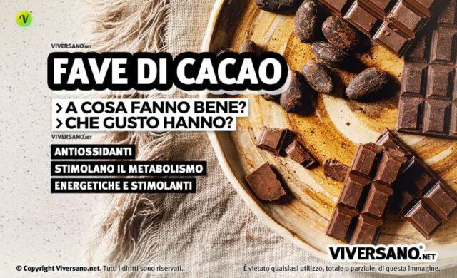 Fave di cacao crudo proprietà e benefici
