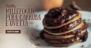 La ricetta semplice e veloce di un delizioso dolce raw a base di pera e farina di carruba
