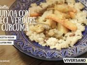Ricetta con quinoa, ceci e curcuma
