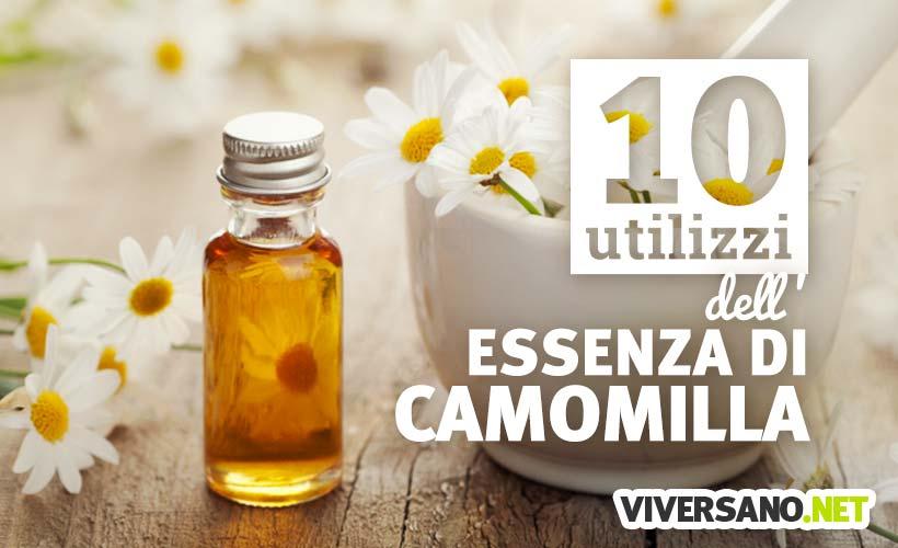 10 usi dell'olio essenziale di camomilla