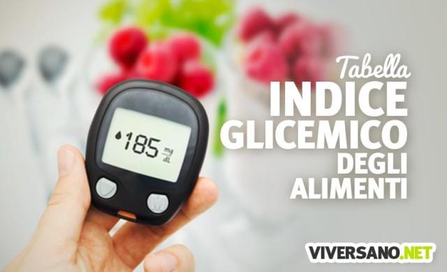 Tabella dell'indice glicemico degli alimenti