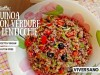 Insalata di quinoa con verdure e lenticchie