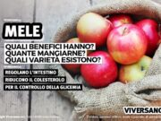 Immagine di mele in un sacchetto di tessuto