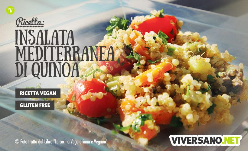 Insalata mediterranea di quinoa con verdure