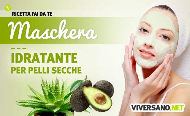 Maschera viso per pelli secche - ricetta fai da te con avocado e aloe