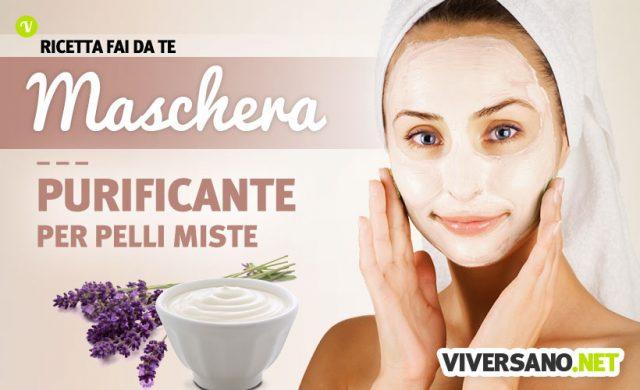 Maschera viso idratante e purificante per pelli miste