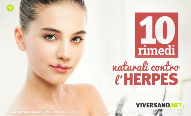10 rimedi naturali contro l'herpes labiale