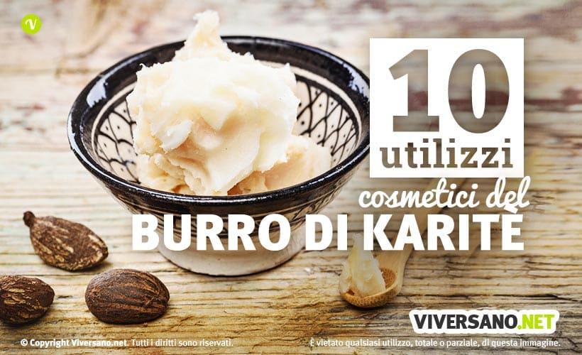 Immagine con burro di karite sfuso disposto in una ciotola