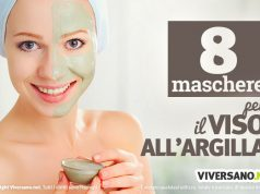 8 maschere viso all'argilla