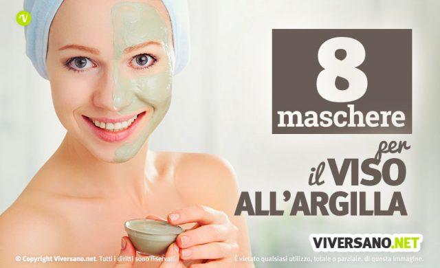 8 maschere viso all'argilla