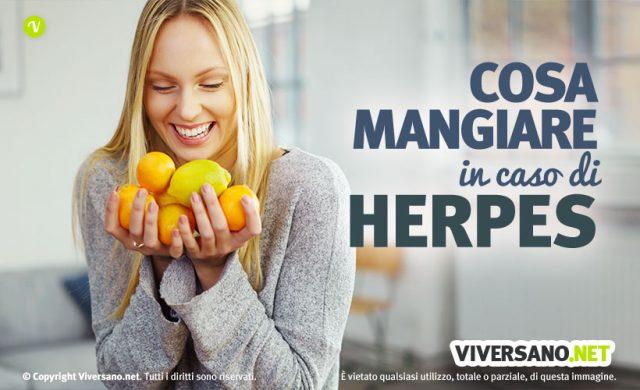 Alimentazione contro l'herpes labiale