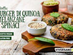 Ricetta dei burger vegan con quinoa melanzane e spinaci