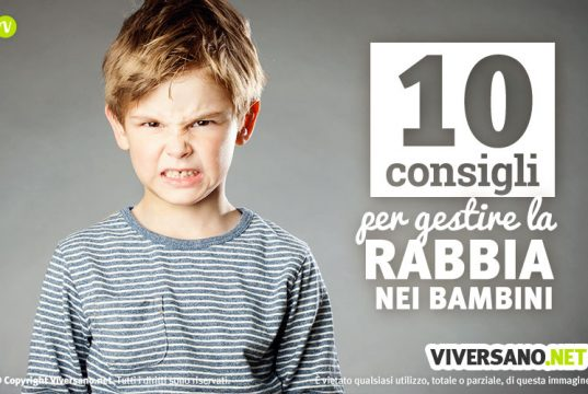 10 consigli per la rabbia nei bambini