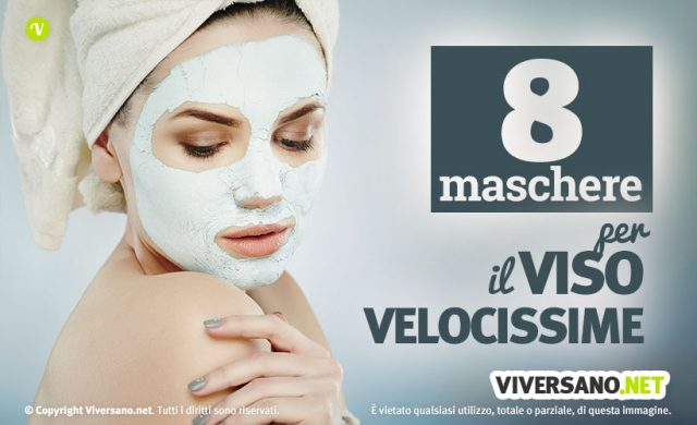 8 maschere viso veloci fai da te