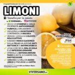 Infografica con i benfici del limone
