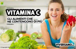 Vitamina C negli alimenti: i cibi piu ricchi