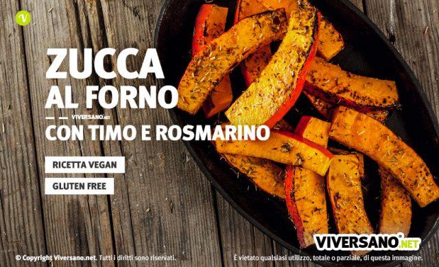 Zucca al forno con timo e rosmarino ricetta vegan