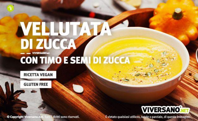 Ricetta vellutata di zucca con patate vegan e senza glutine