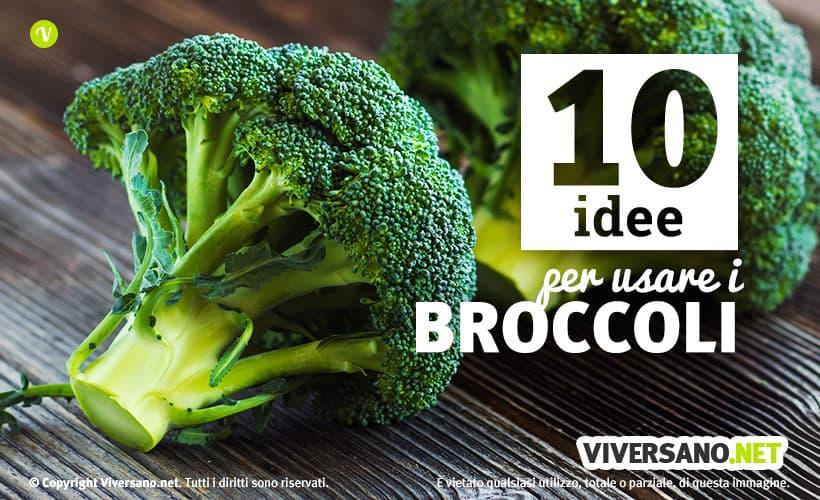 Broccolo fresco e intero
