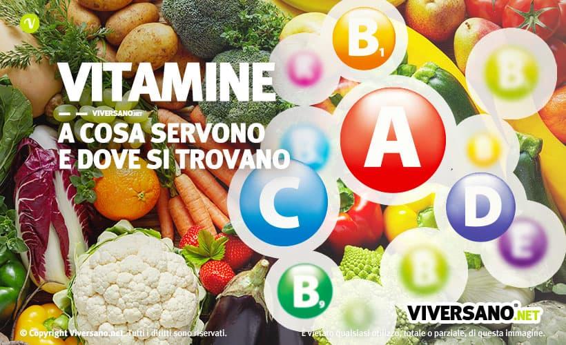 Immagine di copertina dell'articolo - Vitamine a cosa servono e dove si trovano
