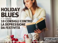 Donna triste a causa del cosiddetto Holiday blues