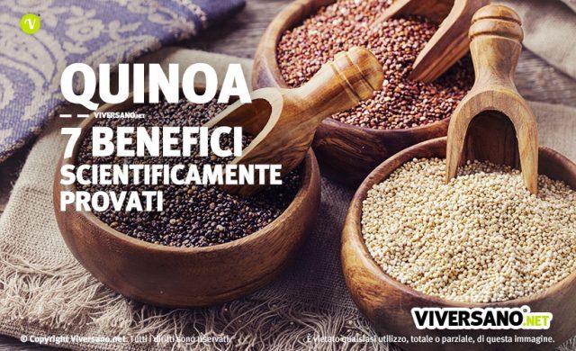 Quinoa sette benefici scientificamente provati