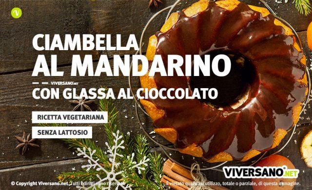 Ricetta ciambella al mandarino con glassa di cioccolato