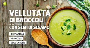 Piatto di vellutata di broccoli