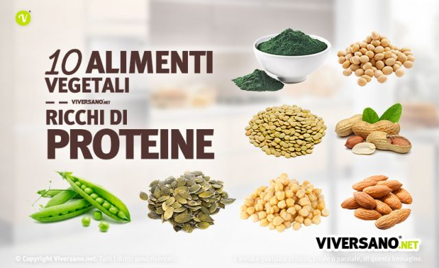 10 alimenti ricchi di proteine vegetali