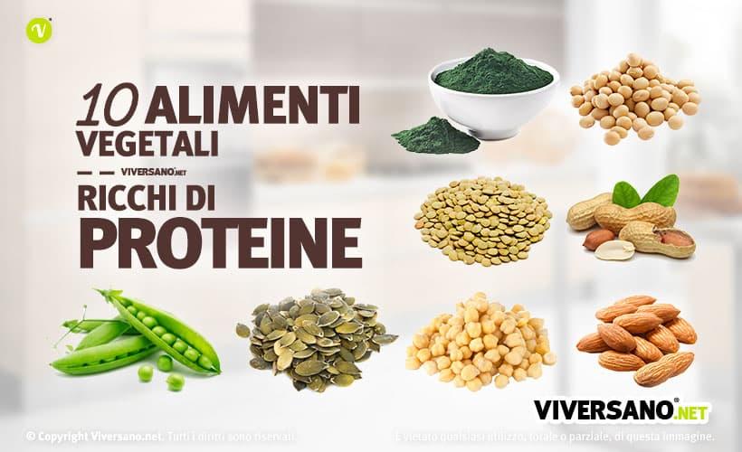 Copertina dell'articolo - 10 alimenti vegetali ricchi di proteine