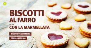 Biscotti di san valentino a forma di cuore ripieni di marmellata