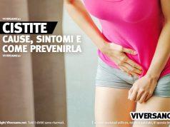 Donna che si tocca il basso ventre dolorante a causa della cistite