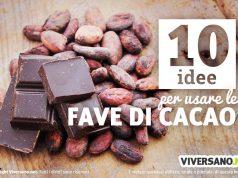 Immagine con pezzi di cioccolato e fave di cacao