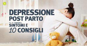 Immagine di ragazza triste a causa della depressione post partum